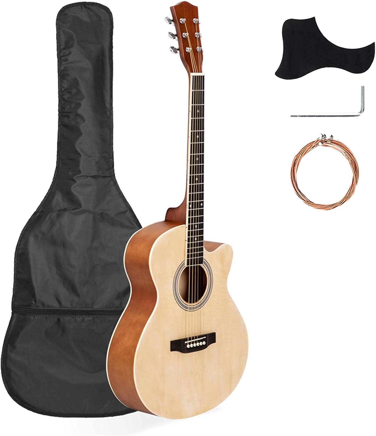 DOLMER 40 Inch Max 46% OFF Cutaway Acoustic Guitar Ranking TOP12 Beginner Kit Frets 20 for