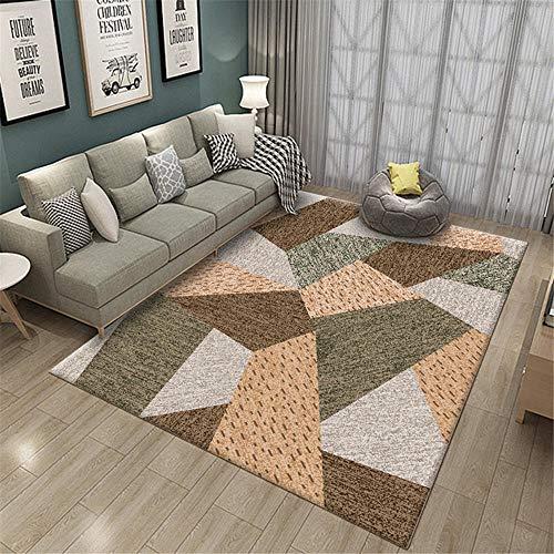 Carpet Living Room Wohnzimmer Teppichbraun grau, schmutzresistent, Anti-Skid und Anti-Herbst Carpet Living Room Teppich weich 80X120CM 2ft 7.5' X3ft 11.2'