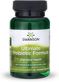 Swanson Ultimate Probiotic Formula Digestive Health Immune System Support 66 Billion CFU Prebiotic NutraFlora scFOS 30 DRcaps Veggie Capsules (Caps)