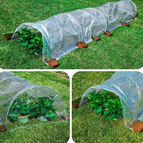 Grow Tunnel Gewächshaus, Garten Polytunnel Mit 7 Bogen Stahldraht, Obstgemüse Grow House Im Freien, UV-beständige Verstärkte PE-Abdeckung Für Gemüse Und Pflanzen 500x60x40cm