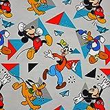 MAGAM-Stoffe Mickey Mouse Dreiecke Jersey Kinder Stoff
