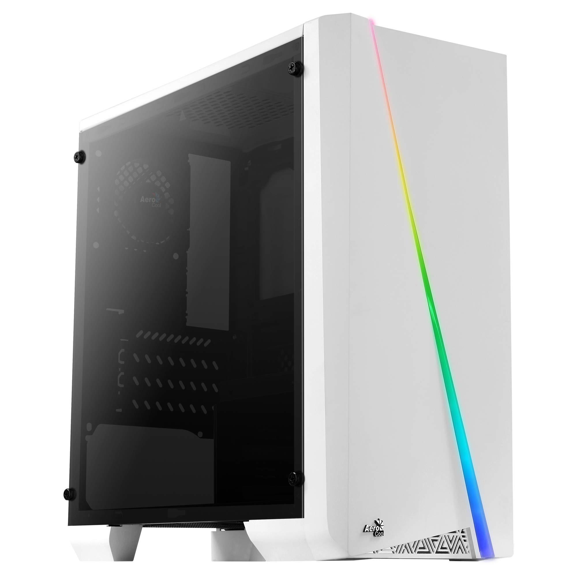 Aerocool Cylon Mini, caja PC Micro ATX blanca, RGB 13, ventana, ventilador 8cm: Amazon.es: Informática