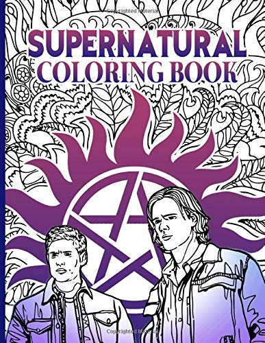 Supernatural Coloring Book: Adult Coloring Books For Men And Women
