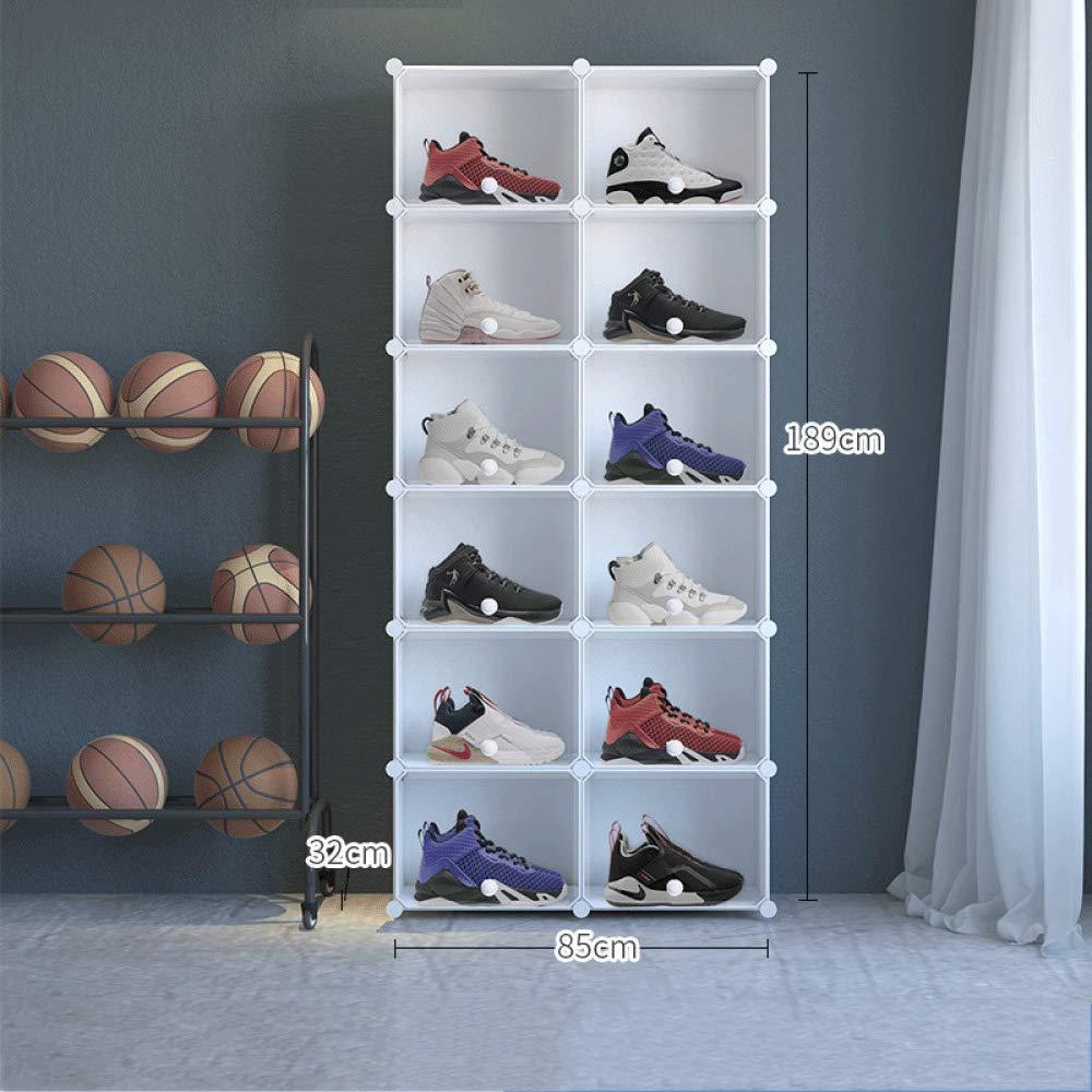 SYD Caja De Zapatos Caja De Zapatos Apilable De Acero Inoxidable/Caja De Zapatos Caja De Almacenamiento De Zapatos Transparente Caja Organizadora De Zapatos De Plástico,2/6 9.1kg 85×32×189CM: Amazon.es: Hogar