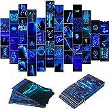 BeYumi 50 Stück Blue Neon Ästhetische Bilder