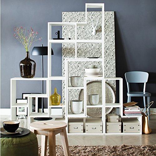 Stufenregal Tetris Kiefer weiß Massivholz Aufbewahrung Schrank Regal Raumteiler