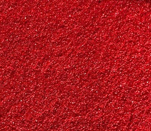 Rhinestone Paradise Arena decorativa roja, 600 g, arena de cuarzo para esparcir, arena roja para decoración de mesa