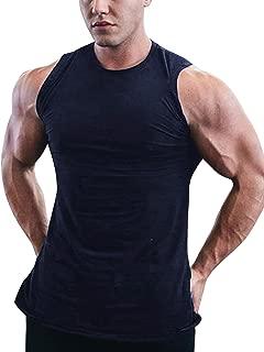 COOFANDY Men's Workout Tank Top Sleeveless Muscle Shirt Cotton Gym Training Bodybuilding Tee