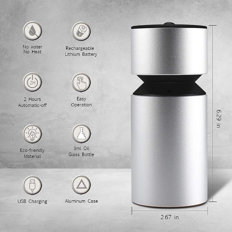 成功する区別インサート噴霧オイルディフューザー、超音波アロマディフューザー、ミニ3.0 USB充電式ネブライザーアロマアロマアロマ