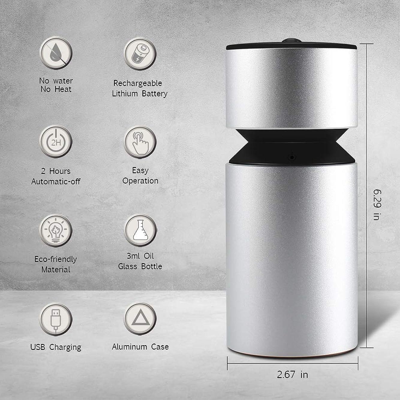 薄汚い好意的漂流噴霧オイルディフューザー、超音波アロマディフューザー、ミニ3.0 USB充電式ネブライザーアロマアロマアロマ