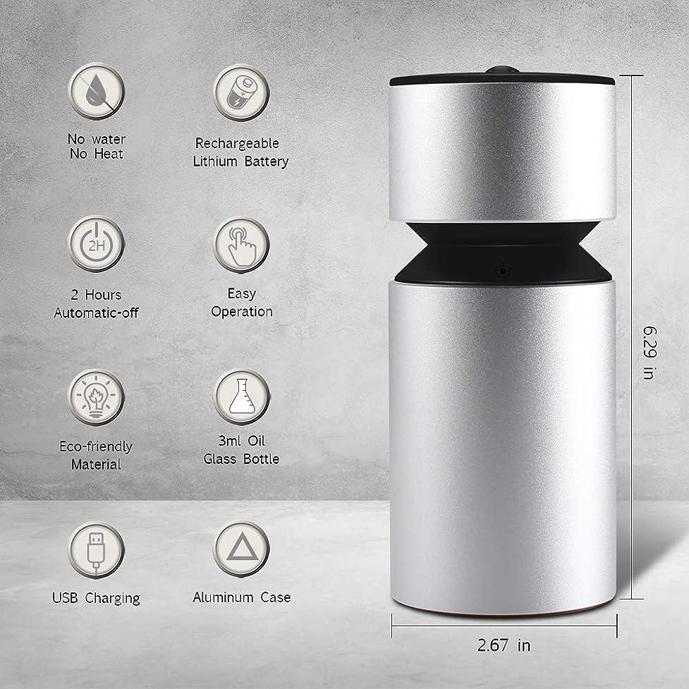 クローンこんにちは無視できる超音波アロマディフューザー、噴霧オイルディフューザー、ミニ3.0 USB充電式ネブライザーアロマアロマアロマ用アロマ