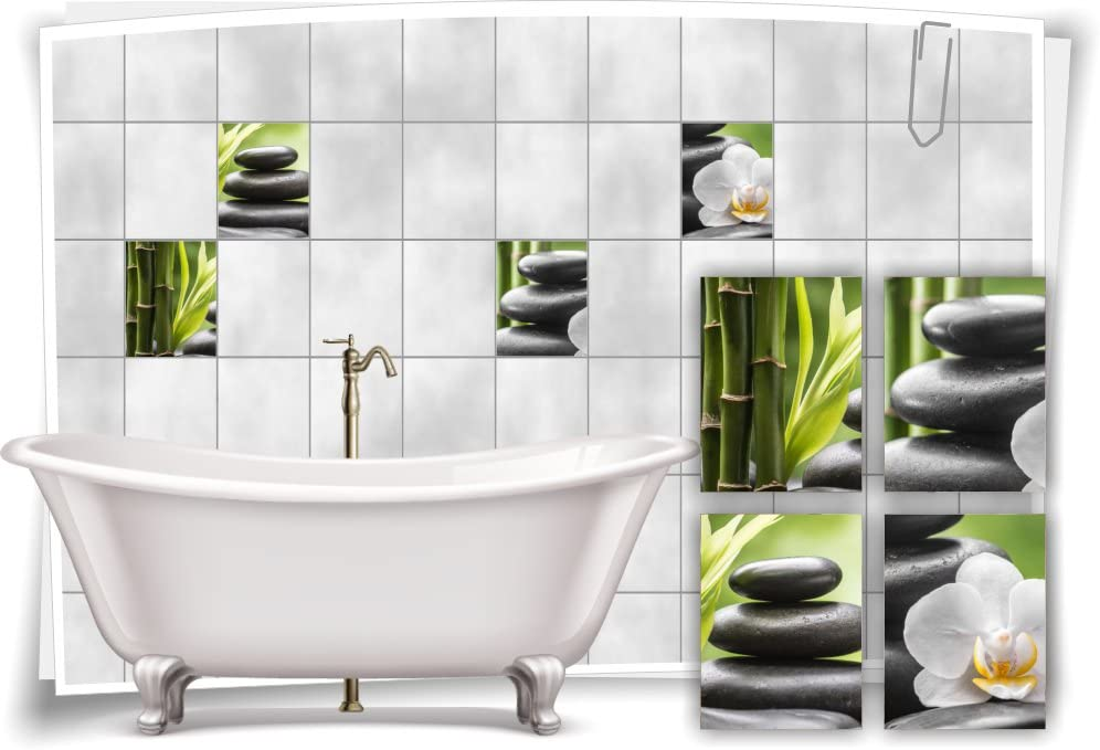 Fliesenaufkleber Fliesenbild Orchidee ZEN Wellness SPA Aufkleber Fliesen Bad