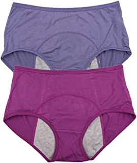Bamboo Viscose Fiber Brief Menstrual Leakproof Panties Multi Pack US Size XXS-3XL/10