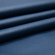 SAE Fabrics Upholstery Rexine Fabric/Artificial Leather Sheet - 140 cms Width - PU Mix, Matte Finish - 1 Meter Multiple - Color: Navy Blue