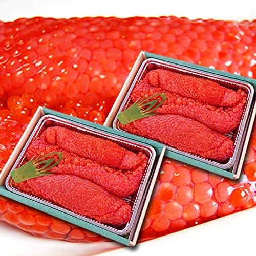 魚水島 北海道〜岩手産 生筋子(生いくら)季節限定「ずっしり大粒 生すじこ」 2kg