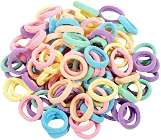 120Pcs Colorful Women Girl Hair Band Ties Rope Ring Elastic Soft Hairband Ponytail Holder for Sport Travel Outdoor Parties...
