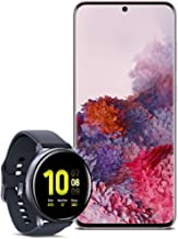 Samsung Galaxy S20 5G Factory Unlocked New Android Cell Phone US Version 128GB of Storage, Pink with Watch Active2 (44mm, ...