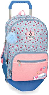 Mochila Doble Compartimento con Carro Enso I love sweets, 46 cm, Multicolor
