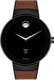 Connect Digital Smart Module Black PVD Smartwatch, Grey/Black & Brown Strap (Model 3660019)
