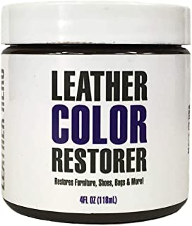 Leather Hero Leather Color Restorer & Applicator- Repair, Recolor, Renew Leather & Vinyl Sofa, Purse, Shoes, Auto Car Seats, Couch-4oz(White)