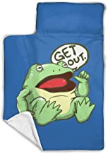 Create Magic Get Out Something Awful Frog Children's Sleeping Mats Combine Sleeping Mats and Blankets and Pillows are Super Soft to Keep Your Child Warm, One Size