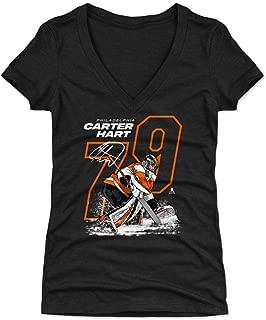 500 LEVEL Carter Hart Women's Shirt - Philadelphia Hockey Shirt for Women - Carter Hart Outline
