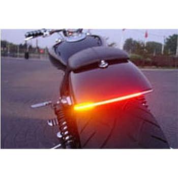 OPPULITE 12V Universal Feu Arriere//Clignotant Moto LED Convient pour Moto//Voiture//V/élo 48SMD Flexibles Bande Lumineuse IP68 Etanche
