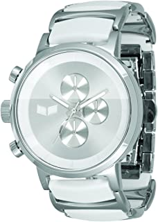 Vestal Men's METCA01 Metronome Silver With Black Acetate Chronograph Watch