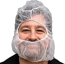 UltraSource Polypropylene Hair Net/Beard Cover, Large, Latex Free, White (Pack of 100)