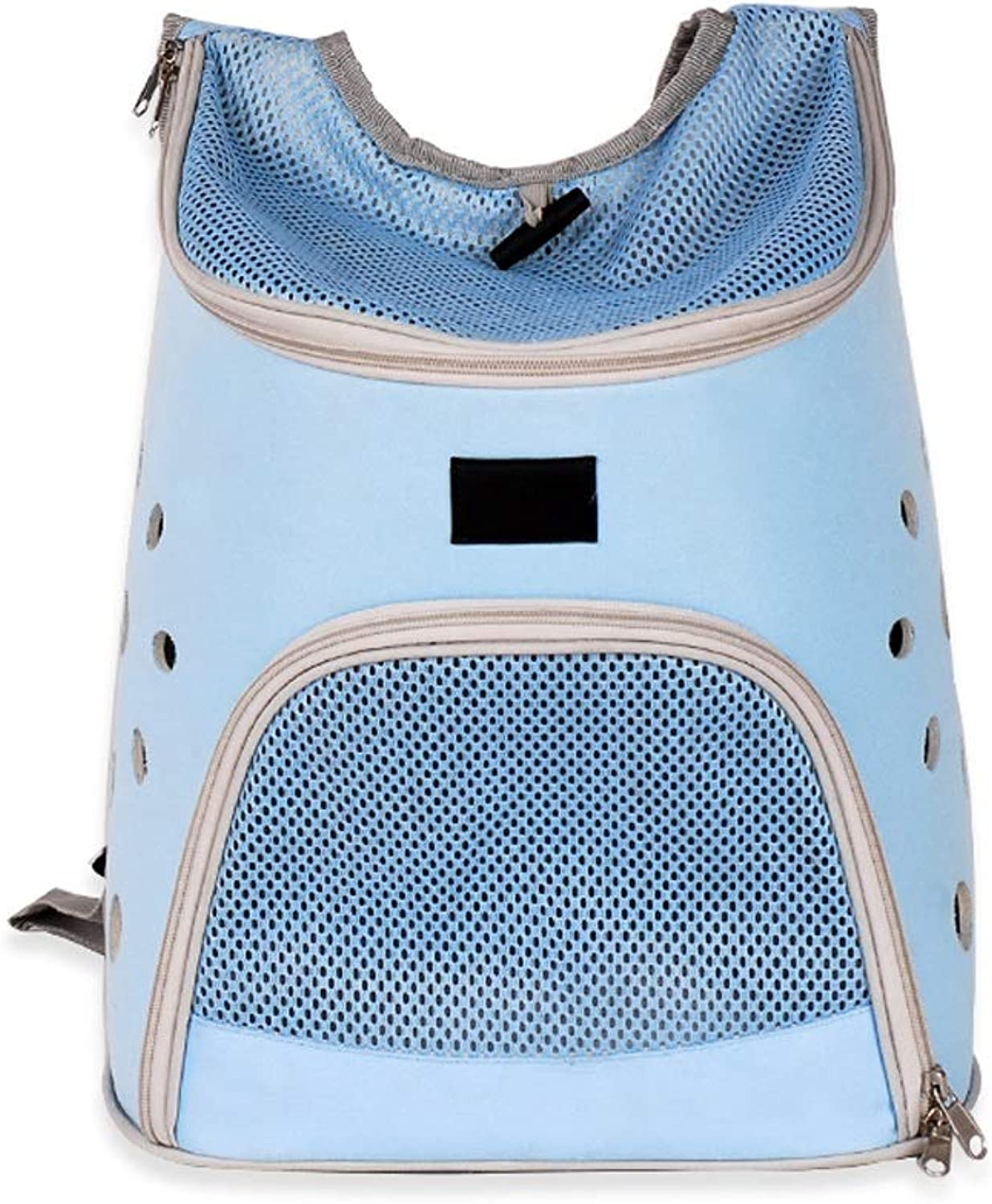 JIANXIN Pet Backpack, Pet Cage, Portable Pet Bag, Pet Out Backpack, Cat And Dog Backpack, Breathable And Bite Resistant (color   bluee)