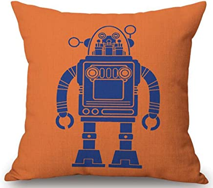 The Clever Robot Cotton Linen Decorative Pillowcase Throw Pillow Cushion Cover Square 18 (3)