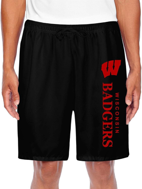 Men's Wisconsin Badgers Logo Shorts Gym