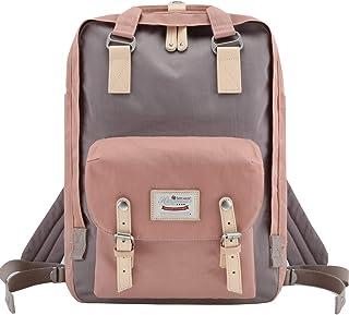 Himawari School Laptop Backpack for College Large 17 inch Computer Notebook Bag Travel Business Backpack for Men Women, Light Pink