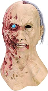 Winkeyes Decaying Zombie Mask for Halloween Gruesome Mask Infected Adult Mask Full Head Monster Mask