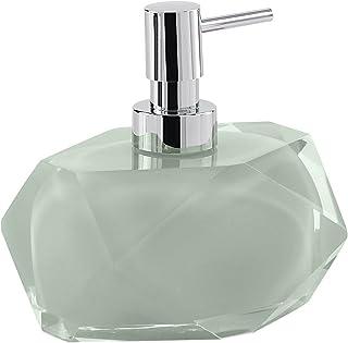 Gedy Chanelle Soap Dispenser, Resin, Green, 7.8 x 11.5 x 12.6