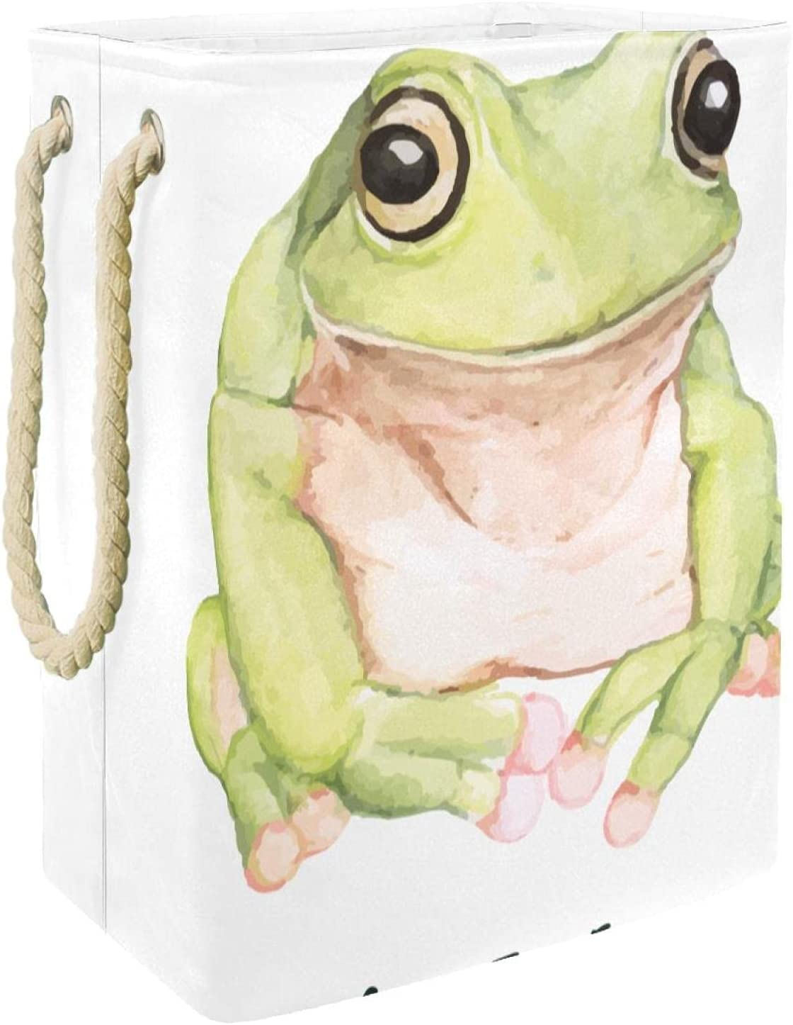 Watercolor Green Tree Frog-01 Large Baskets Cloth low-pricing Laundry Dirty Sale item