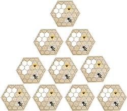 VALICLUD 10pcs Unique Insulation Pads Heat Insulation Mat Hot Handle Covers Wooden Placemats Bamboo Trivet Mat Set Heat Re...
