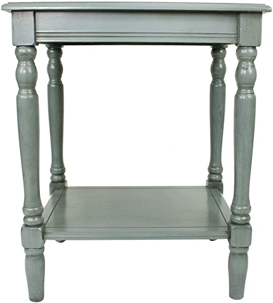 D Cor Therapy FR1576 Simplify End Table Fits Most Casual D Cor Blue Gray Renewed