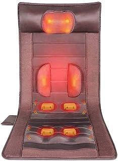 Massage Mat with Heat,25W, 10 Vibrating Motors,8 Mode, 9-Speed Adjustment Massager Cushion,Full Body Massager Relieves Str...