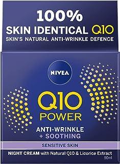 NIVEA Q10 Power Sensitive Night Cream (50 ml), Night Cream for Women, Fragrance–Free NIVEA Q10 Night Cream, Coenzyme Q10 a...