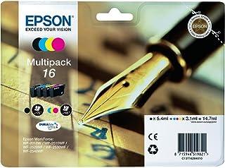 Epson C13T16264010 Cartuccia d'Inchiostro Multipack 16 per Workforce WF 2010 W/2510 WF/2520 Nf/2530 WF/2540 WF, con Amazon...