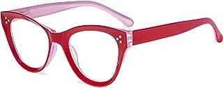 Eyekepper Lunettes de lecture à grand oeil de chat Lunettes de lecture surdimensionnées pour les femmes - Rouge +4.00