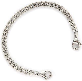 .925 Sterling Silver 7.00MM Fancy Polished Anklet Bracelet