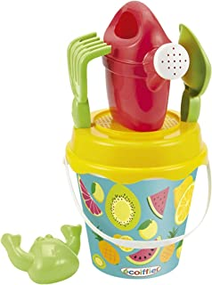Simba Ecoiffier Beach Fruits Iml Bucket with Accessories, Multi-Colour, 17 cm