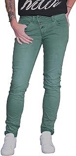 Buena Vista Vaqueros de Mujer Malibu Stretch Sarga Verde Esmeralda XXS