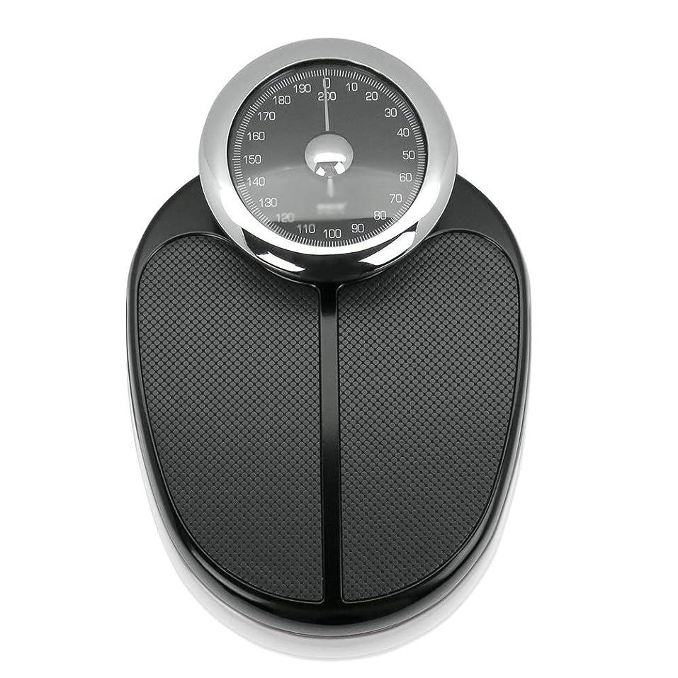 封建つぶす疑い機械式体重計ダイヤル表示スケール正確な体重体重計は200kg(48x32.5x14cm)を負担できます