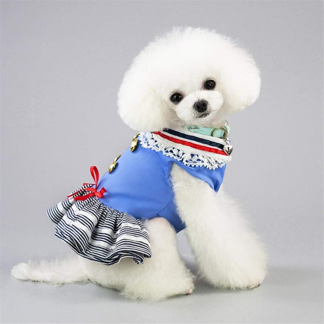 GODGETS Falda de Boda del Perro Falda Encantadora del Caramelo Ropa para Mascotas Vestido De Cachorro Disfraz,Azul Claro,XS