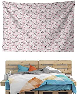 HuaWuChou Modernist Geometric Tapestry, Wall Hanging Decor Decoration Beach Blanket Dorm Room Bed Sheets, 36W x 24L Inches