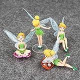 4 unids / Lote Modelo de Anime Figura de Princesa Juguetes Tinkerbell Fairy Elf Set para niños Regalos de cumpleaños 3-10cm