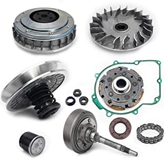 TARAZON For Hisun UTV 500 700 Clutch Primary Fixed Sheave/Primary Dry Clutch CVT Sheave Assy/Secondary Driven Clutch CVT Pulley/Housing/Pad Shoe/Bearing/Gasket/Flange Nut/Oil Seal/Oil Filter
